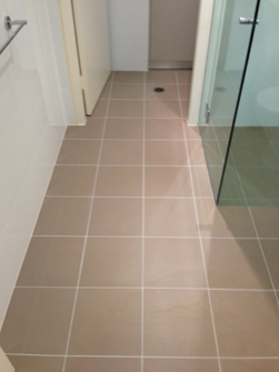 Bathroom Floor After Grout Recolouring