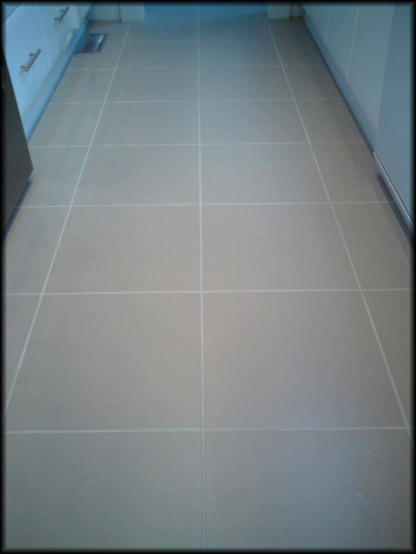 After Floor Tile Regrouting